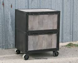 Vintage Metal File Cabinet Reclaimed Wood File Cabinet With Buy A Hand Crafted Vintage
