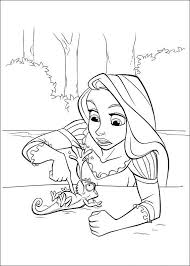 20 tangled disney coloring pages images