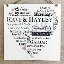 personalised wedding gifts personalised wedding gift typography wooden plaque sign keepsake