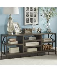 mercury demilune sofa table don t miss this deal mercury row derwood metal distressed storage