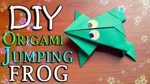 diy how to make easy origami toy jumping frog from paper for
