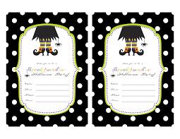 halloween invitation card templates u2013 fun for halloween