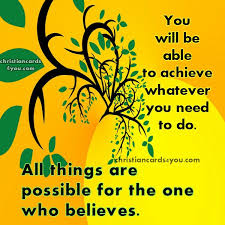 day quotes all things are possible christian cards for you