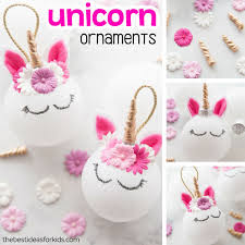 unicorn ornaments easy diy tutorial the best ideas for