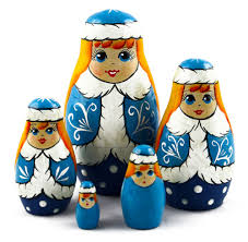 Russian Home Decor Snow Maiden Matryoshka Wooden Nesting Russian Dolls Childrens Toy