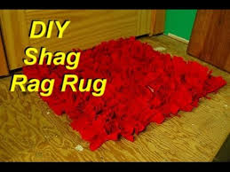 How To Make My Own Rug How To Make A Shag Rag Rug From Old Shirts Easily Youtube