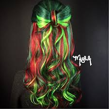 black light beauty beautiful rainbow hair color design and eye