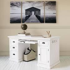 bureau informatique en bois design d intérieur meuble informatique moderne bois blanc tiroirs