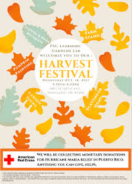 lgl harvest festival u0026 donation drive for puerto rico tickets wed