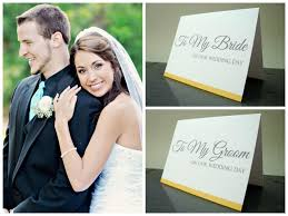 Wedding Day Cards From Groom To Bride Bride And Groom Gift To My Bride U0026 To My Groom On Our Wedding