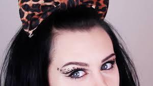 leopard print makeup tutorial leopard eye makeup youtube