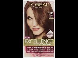 light reddish brown color l oreal excellence 6rb light red brown hair color 1 ct youtube