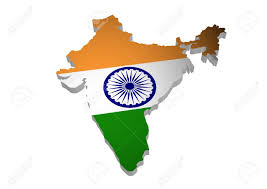 3d outline of india with flag stock photo picture and royalty