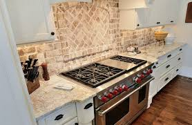 faux brick backsplash in kitchen kitchen white kitchen with red brick backsplash kitchen