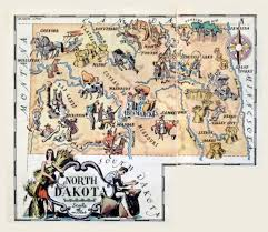 Map North Dakota Detailed Tourist Illustrated Map Of North Dakota State Vidiani