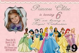 20 printed disney princess custom birthday invitations photo