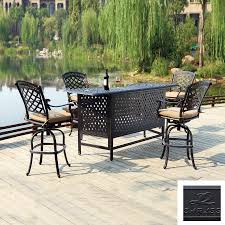Cast Aluminum Patio Furniture Clearance by Patio Bar Sets Clearance Style Pixelmari Com