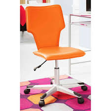 Desk Chair For Kids by Orange Leather Teen Desk Chair With Wheels Jpg