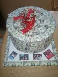 money cake designs 100 mk money cake for birthday gift rear view almost edible