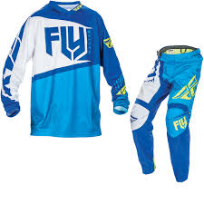 fly motocross gear fly racing 2017 f 16 youth motocross jersey u0026 pants blue hi viz