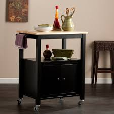 butcher block kitchen island in black by crosley furniture butcher