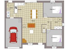 plan maison 2 chambres plain pied charmant plan maison de plain pied 3 chambres 9 maison plain pied