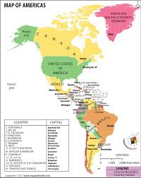 South America Map With Capitals by Map Of North America And South America Map Of Americas