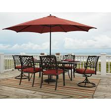 Patio Dining Set With Umbrella - signature design by ashley tanglevale outdoor dining table set w