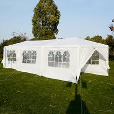 Plastic Door Canopy by Costway 10 U0027x30 U0027heavy Duty Gazebo Canopy Outdoor Party Wedding Tent