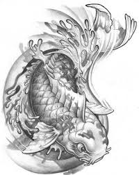 koi fish creepy pencil and in color koi fish creepy