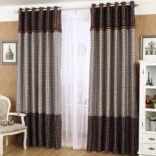 Brown Gingham Curtains Gray And Brown Gingham Vintage Room Darkening Curtains