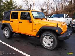 orange jeep cj dozer yellow 2012 jeep wrangler unlimited sport s 4x4 exterior