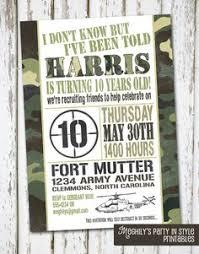 free birthday party invitations free printable invitations army