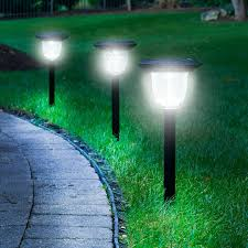 solar lights the best solar walkway light hammacher schlemmer