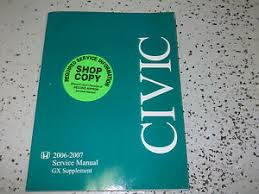 2006 honda civic service schedule 2006 honda civic gx service manual supplement repair manual