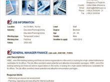 job post template free resume
