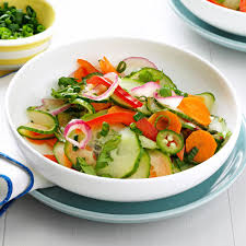 crisp u0026 spicy cucumber salad recipe taste of home