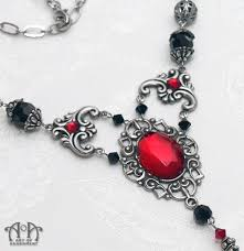 black jewelry necklace images Sanguina black red renaissance filigree necklace art of adornment jpg