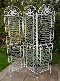 Wrought Iron Room Divider by Antique White Wrought Iron Room Screen Divider Amazon Co Uk