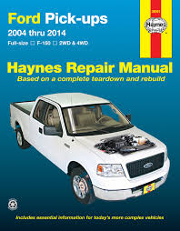 ford full size gas f 150 2wd u0026 4wd 04 14 haynes repair manual