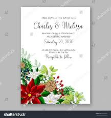 bridal shower invitation card template winter stock vector