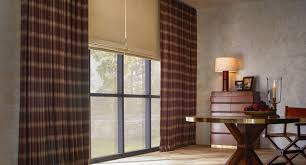 Roman Shades Over Wood Blinds Shop The Finest Blinds Shades And Drapes The Shade Store