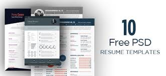 Free Graphic Resume Templates 10 Free Psd Resume Template Designs Ready To Fill Out