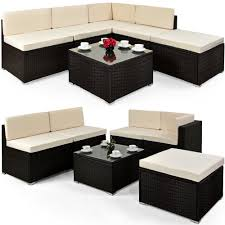 rattan couch garten rattan outdoor garden corner sofa dining table set rattan garden