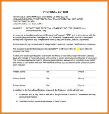 proposal letter business proposal templates examples business