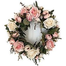 flower wreath floral mix pre light 17 door wreath green