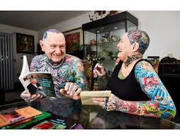 Old Man Tattoo Meme - senior couple breaks world record for most tattoos on the body