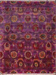Sari Silk Rugs by Rugsville Ikat Red U0026 Rust Sari Silk 30013 8x10 Rug Rugsville