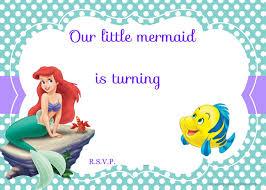 download free printable ariel the little mermaid invitation