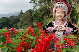 thai wear costume traditional of ethnic hmong for take photo